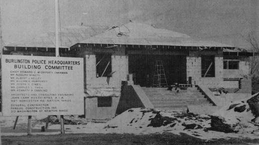 Police station under construction, Burlington MA