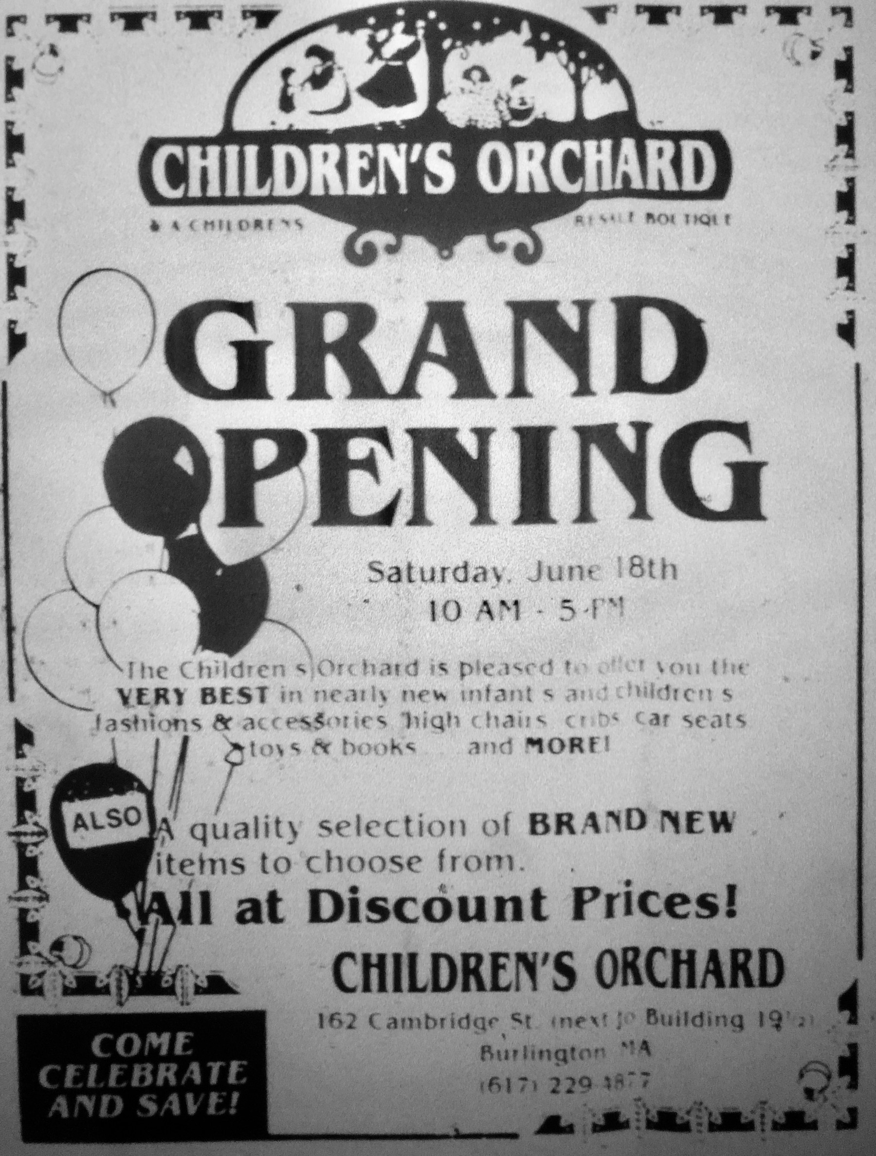 Children's Orchard, Burlington MA. This strip is now the condo complex adjacent to Shoppes at Simonds Park