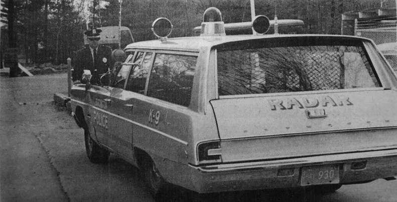 Burlington police radar squad car