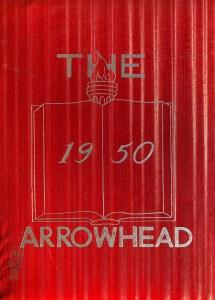 Burlington High School yearbook cover 1950