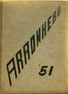 Burlington High School yearbook cover 1951
