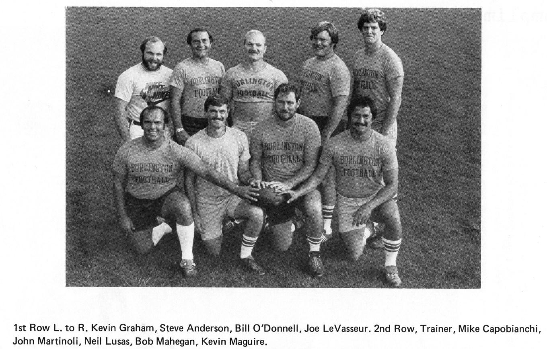 1979 Burlington High School football coaches