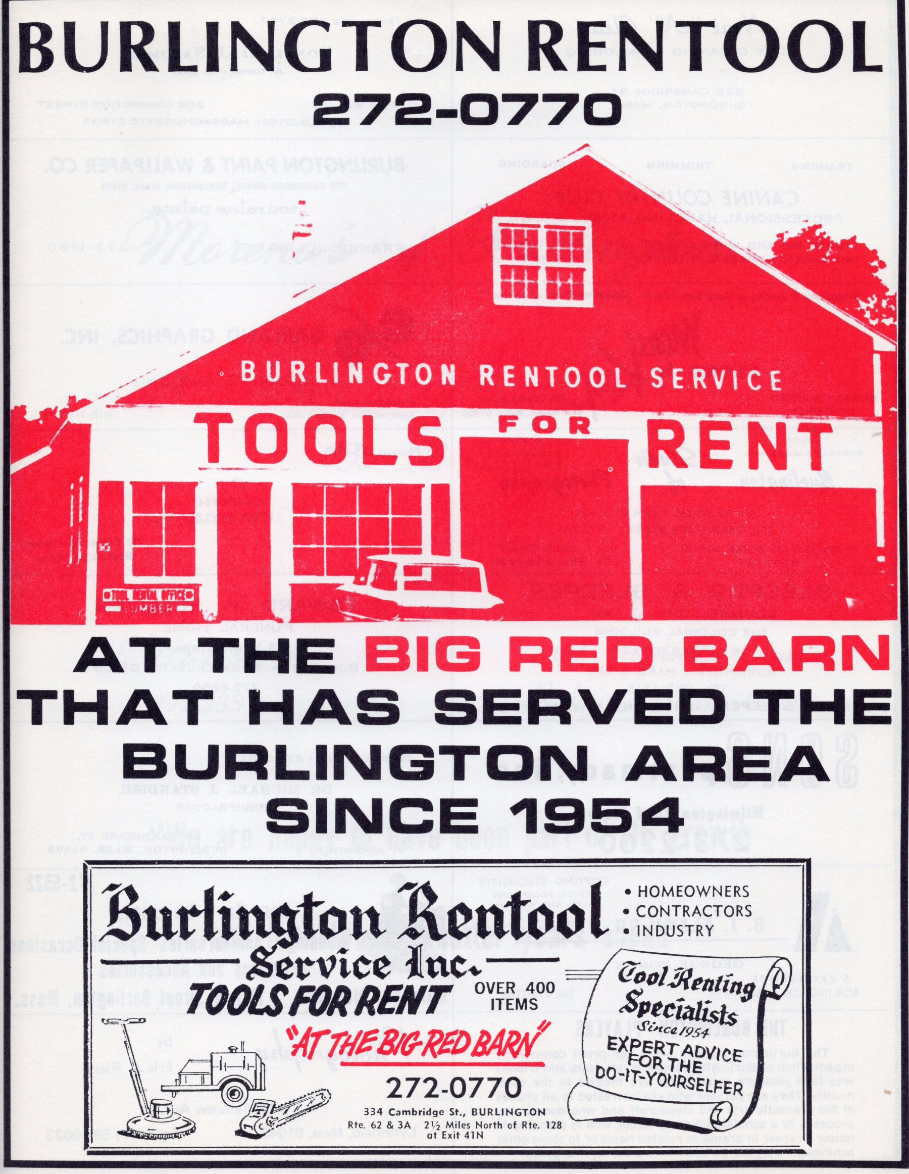 Rentool, Burlington MA