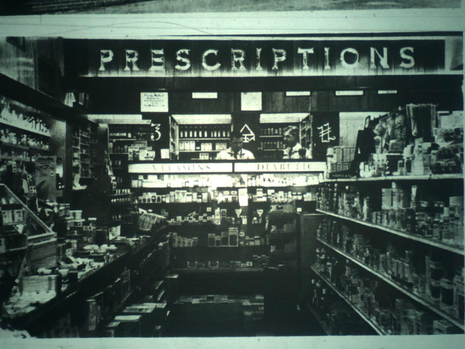 Dale Pharmacy counter, Burlington MA