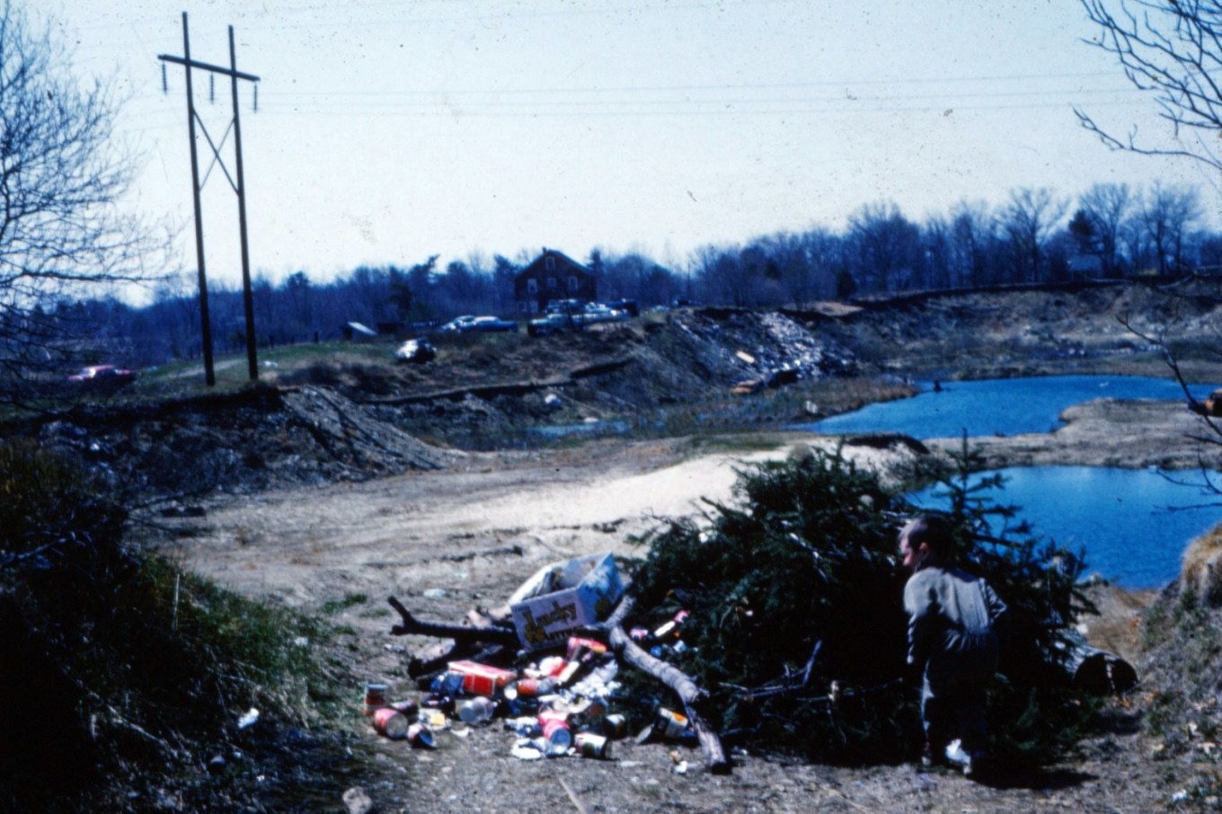 The pits before Middlesex Commons, Burlington MA early 1960s