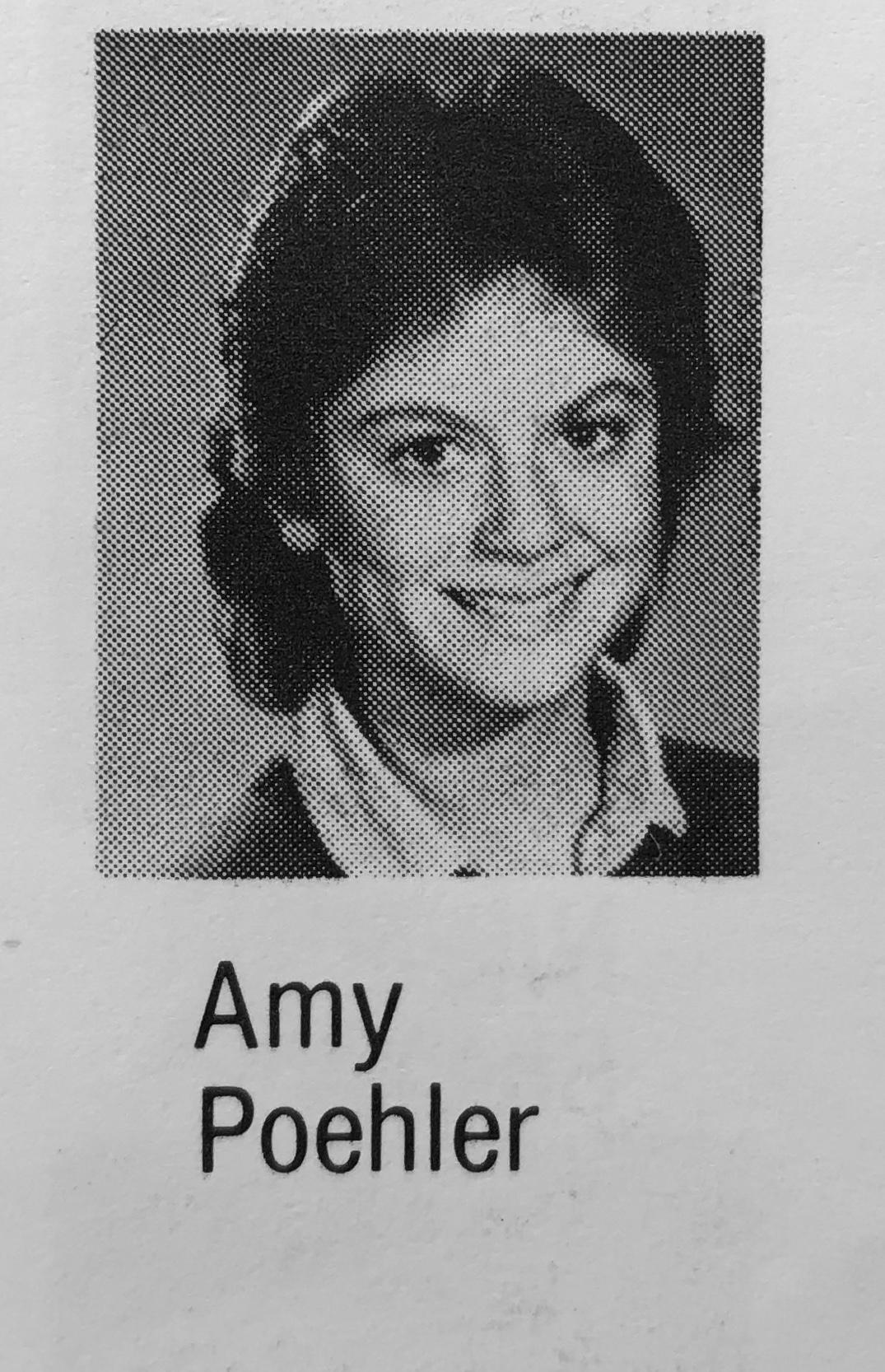Amy Poehler head shot Marshall Simonds Middle School Burlington, MA