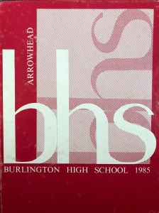 1985 Burlington High School yearbook, Burlington MA