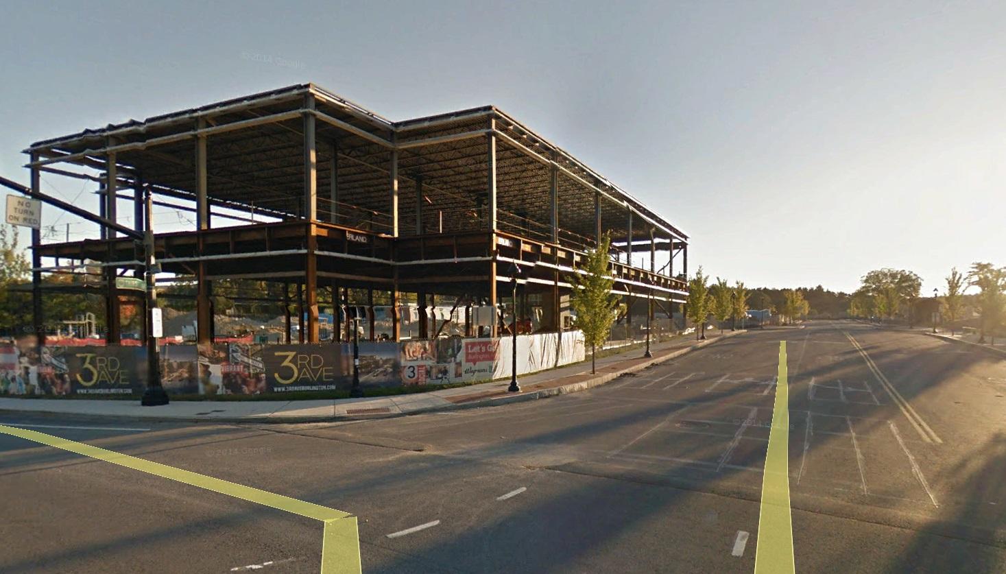 Bancroft under construction, Burlington MA