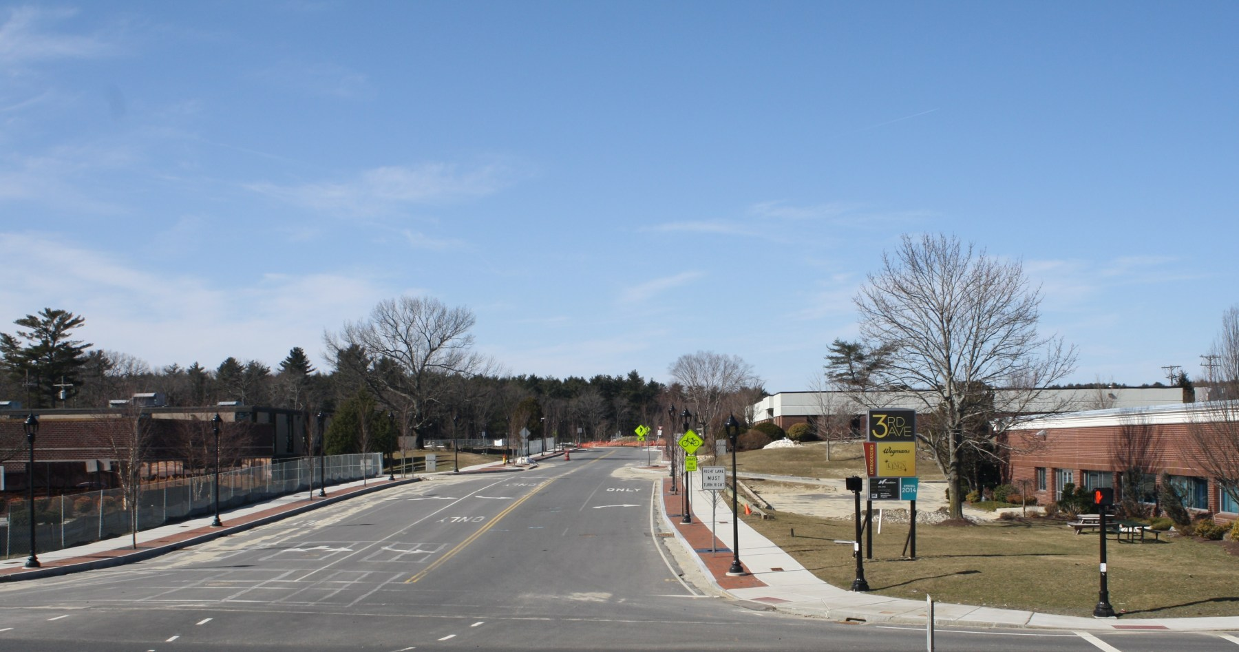 Third Ave Burlington before construction