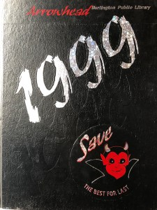 Burlington High School yearbook cover 1999, Burlington MA
