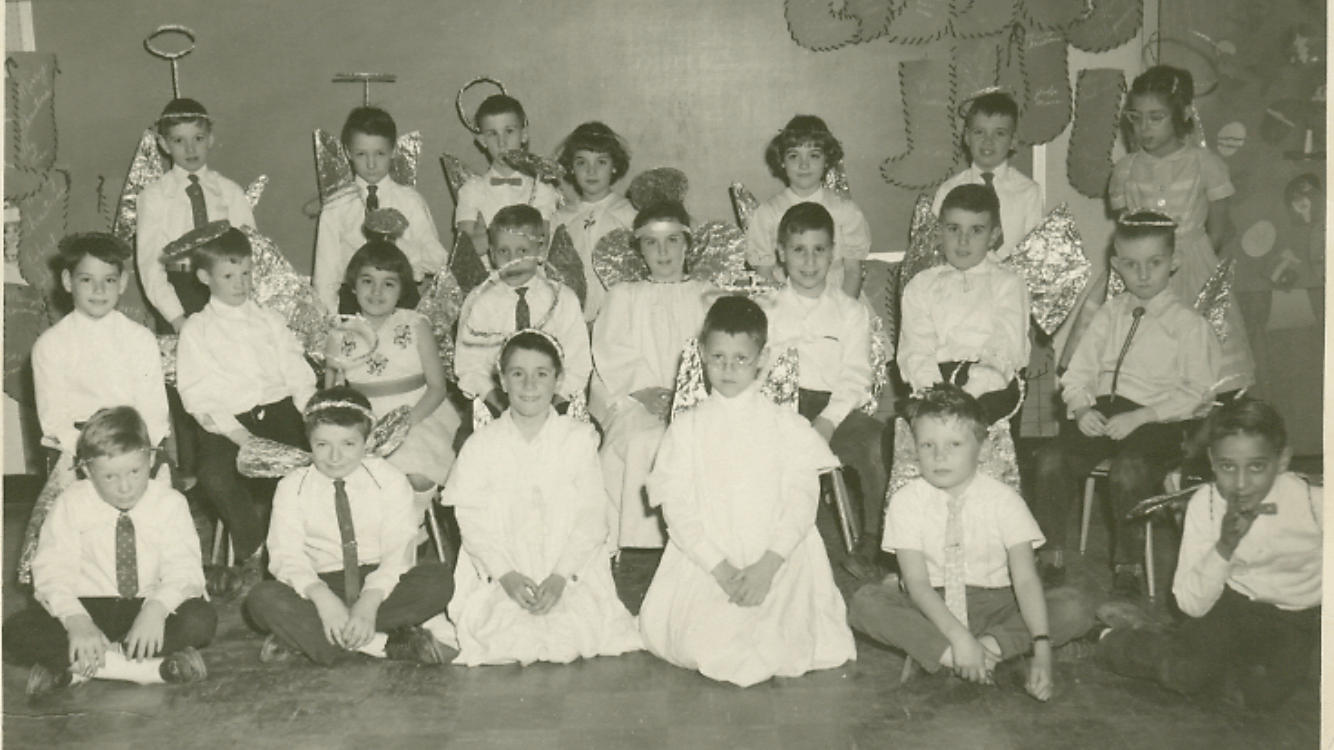 """Littlest Angel"" play at Meadowbrook School 1961, Burlington MA"