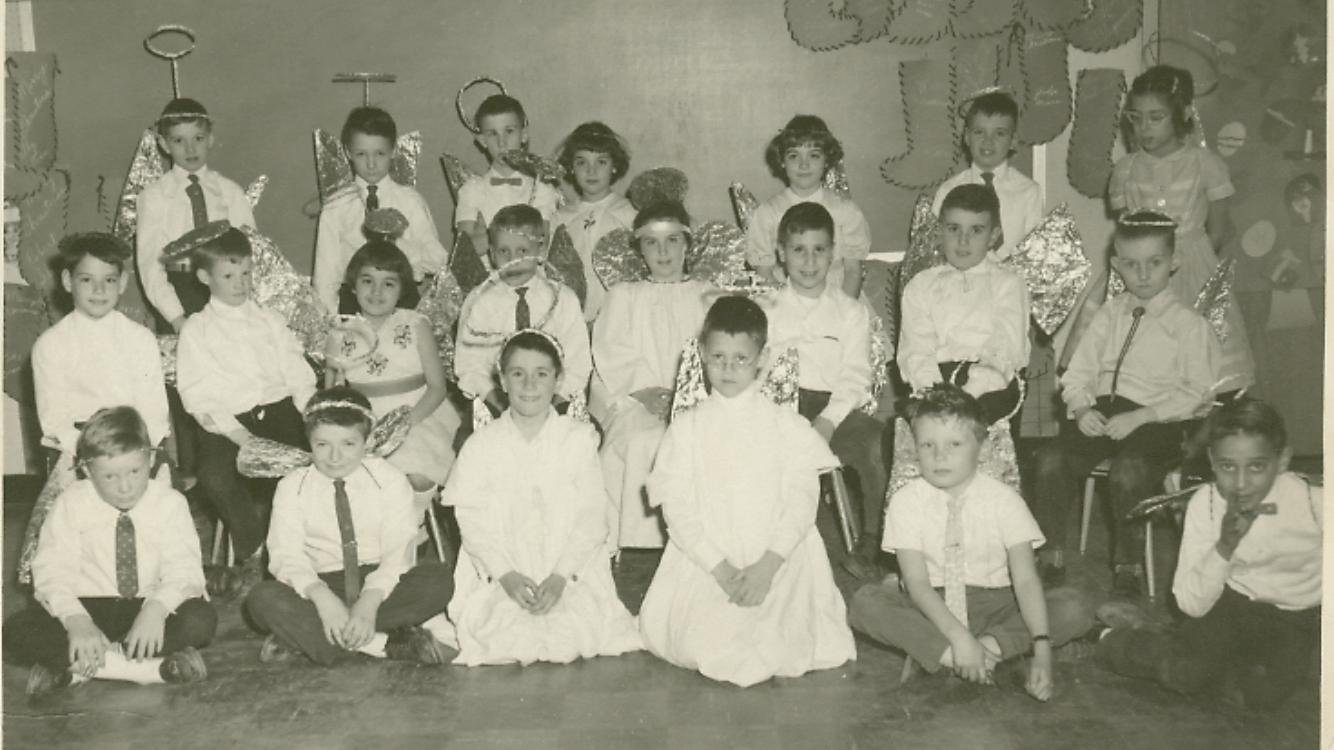 """Littlest Angel"" play at Meadowbrook School 1961, Burlington MA"