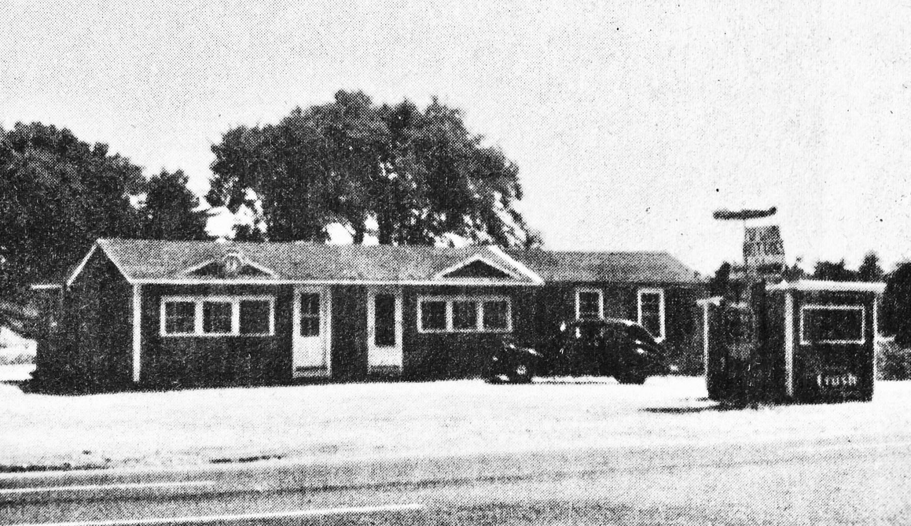 Flying Saucer Restaurant, Burlington MA, 1955
