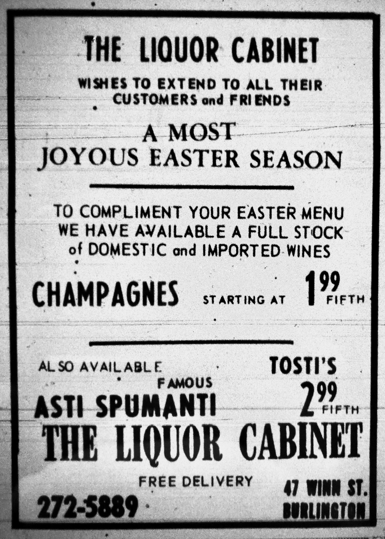 Liquor Cabinet Ad Burlington MA. Little People ...