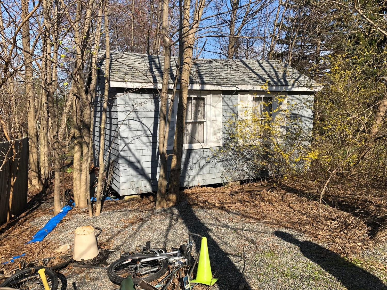 Flying Saucer kitchen, now a shed at 1 Elizabeth Ave., Burlington, MA