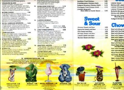 Royal Hawaiian menu