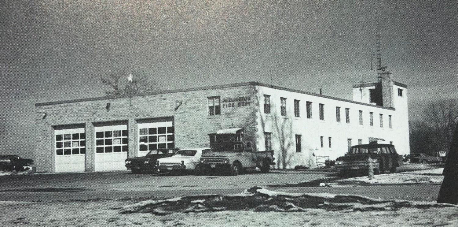 Burlington fire station in 1959