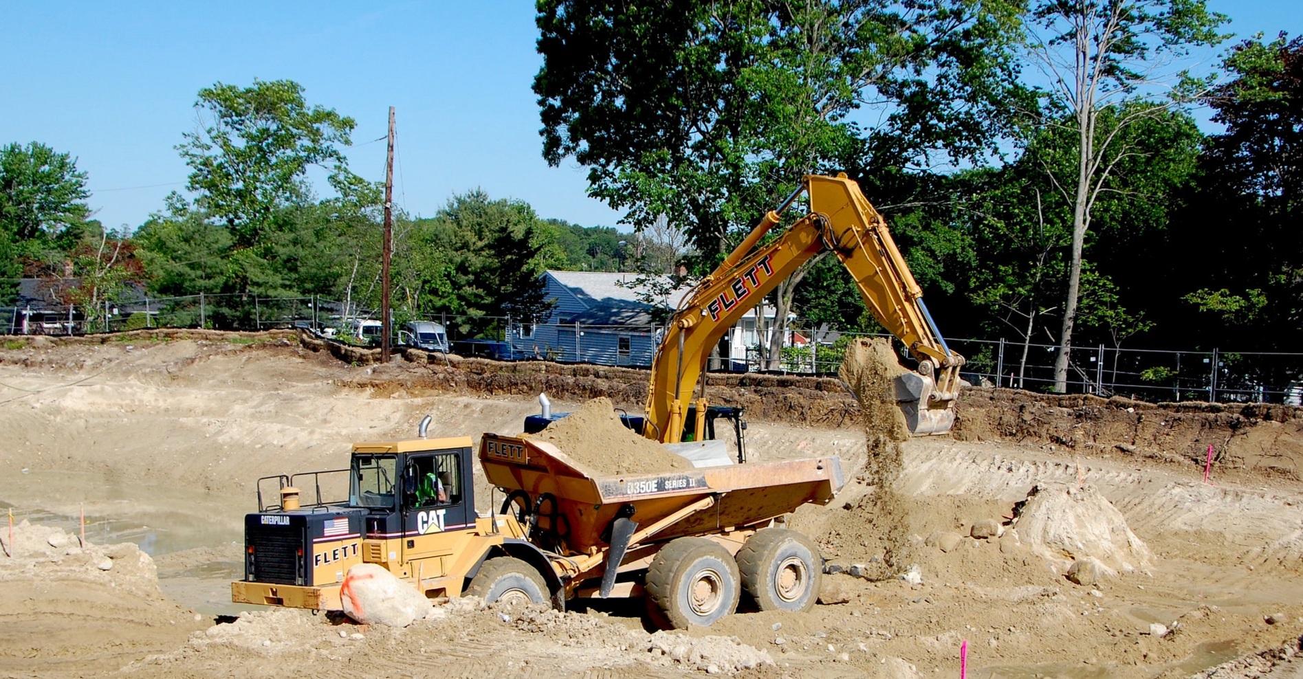 Shoppes At Simonds Park Burlington MA excavation 4