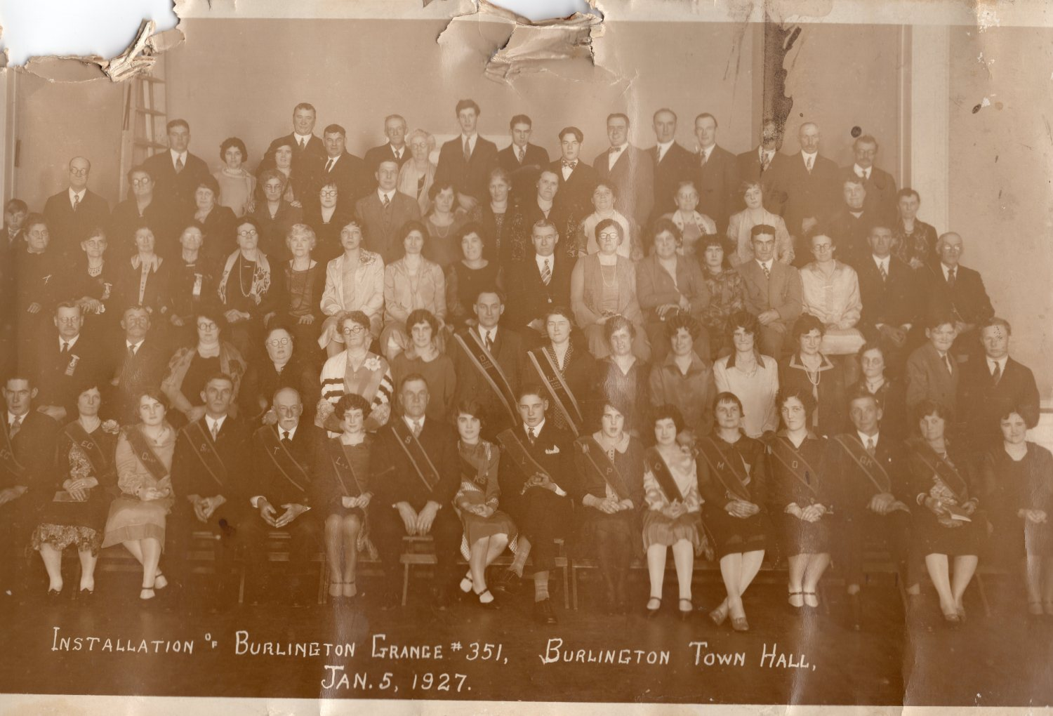 1927 Grange Burlington MA right side. 1927 Grange Burlington MA, left side. Photo credit: Dorothy Bennett