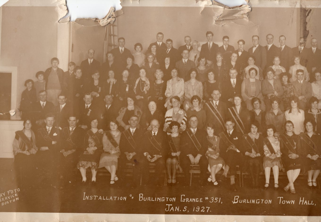 1927 Grange Burlington MA, left side. Photo credit: Dorothy Bennett