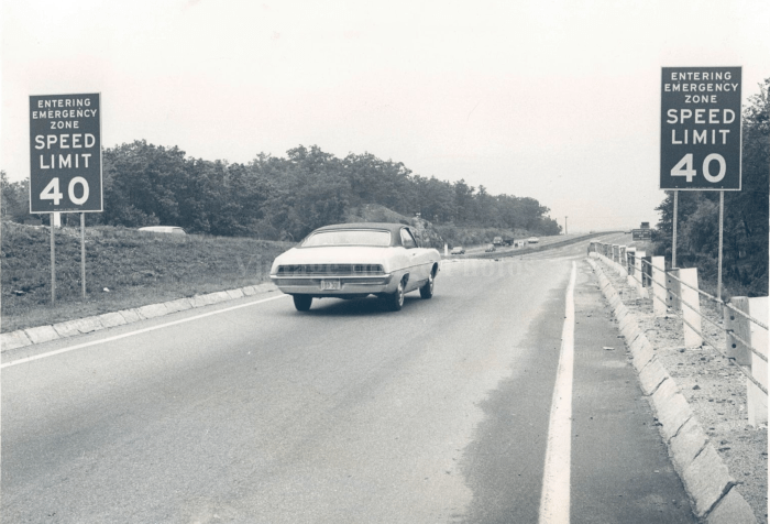 1970 Route 128 speed restriction