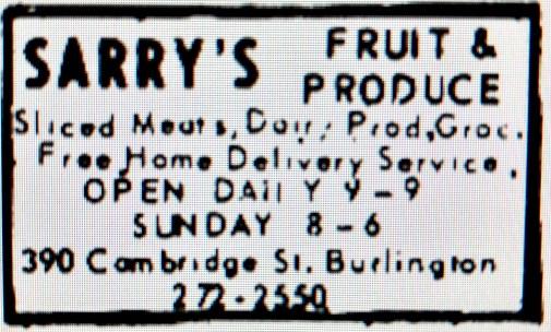 Sarry's Fruit and Produce Burlington MA