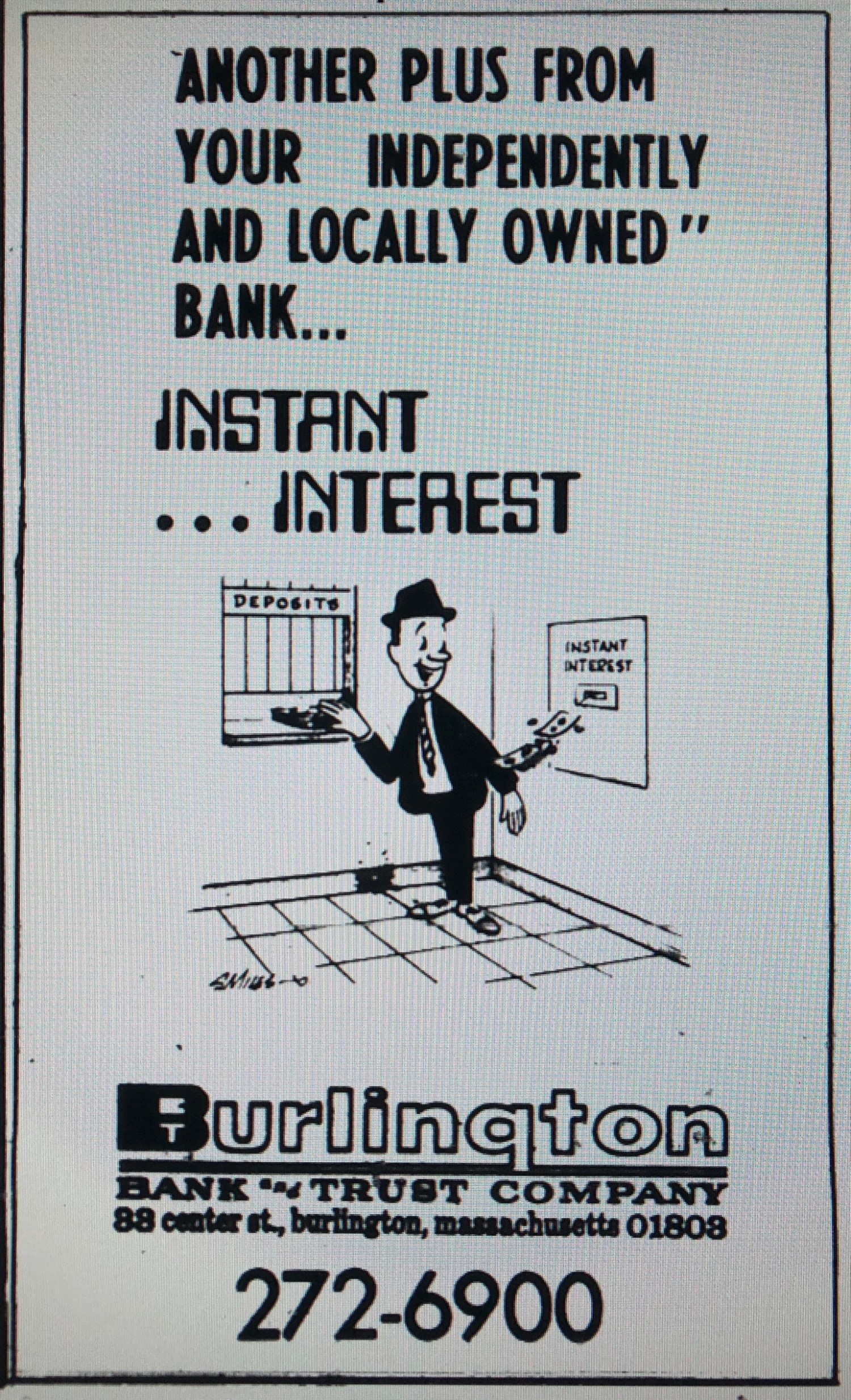Burlington Bank and Trust ad