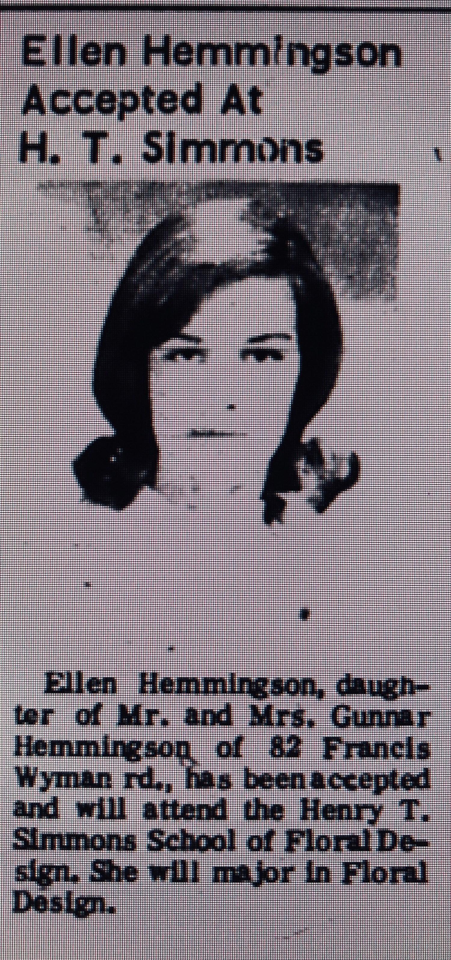 Ellen Hemmingson HT Simmons Burlington MA