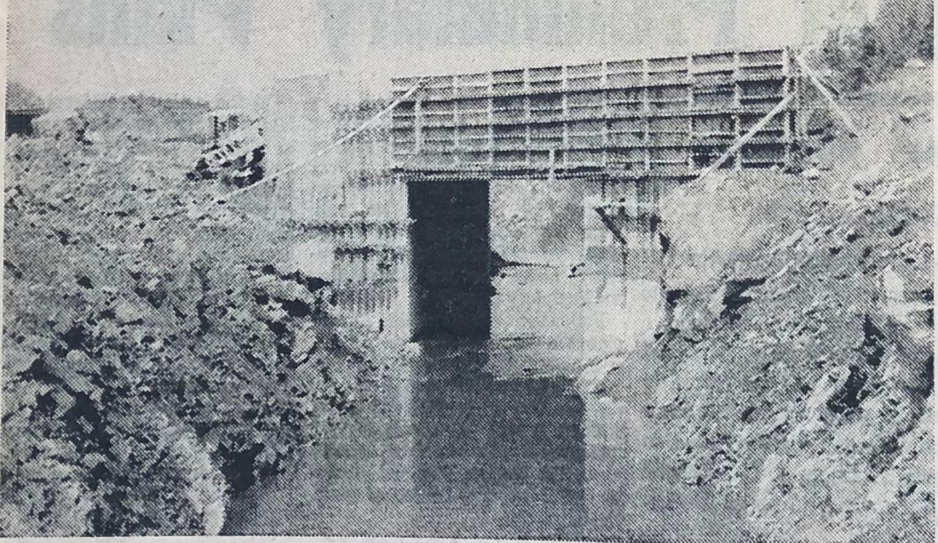 Mall Road culvert over Vine Brook (near the future Lahey Clinic) 1968