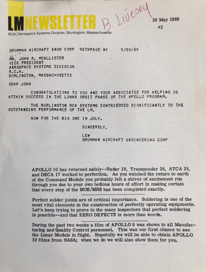 May 1969 newsletter page 1