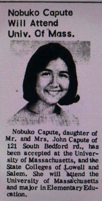 Nobuko Capute UMass Burlington MA