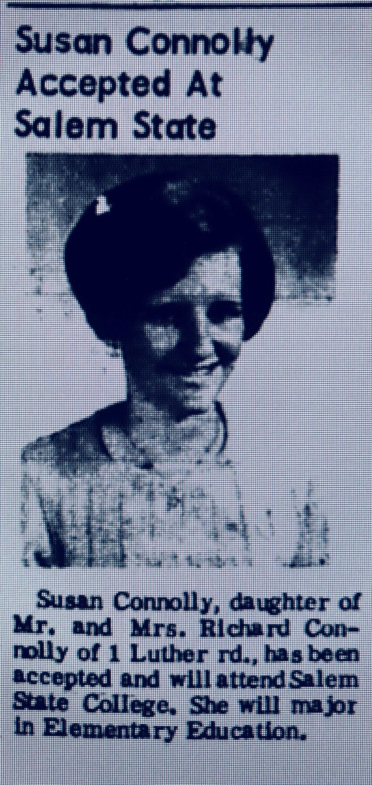 Susan Connolly Salem State Burlington MA