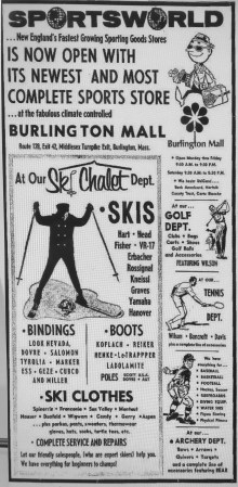 Sportsworld Burlington Mall ad