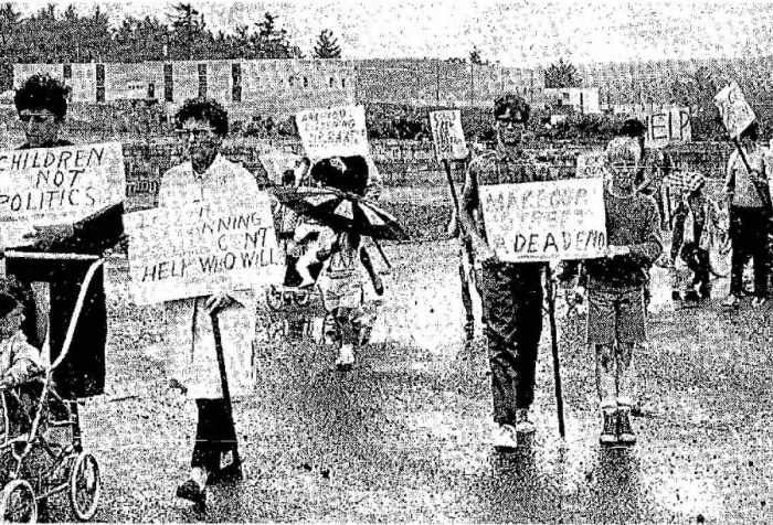 Hallmark Gardens protest Burlington MA, July 1969