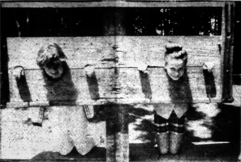 Elizabeth Lowe and Cheryl Reid at Pathwoods Tot Lot Burlington MA