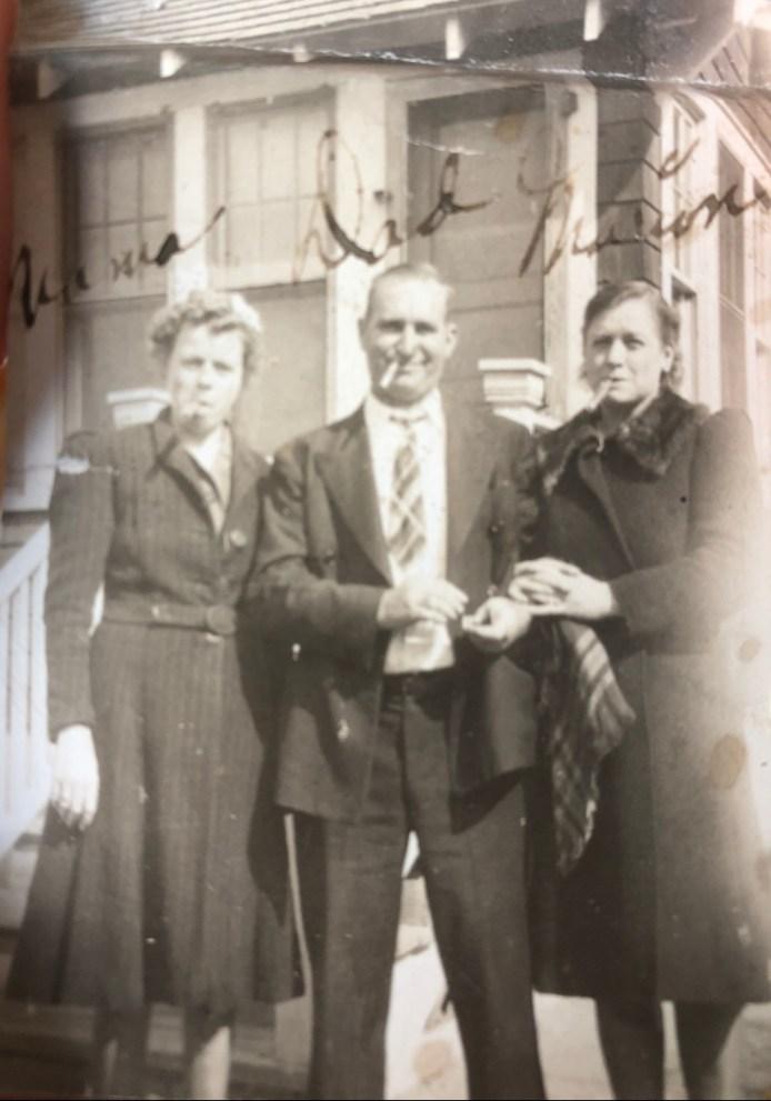 Esther, left. Tim, middle.