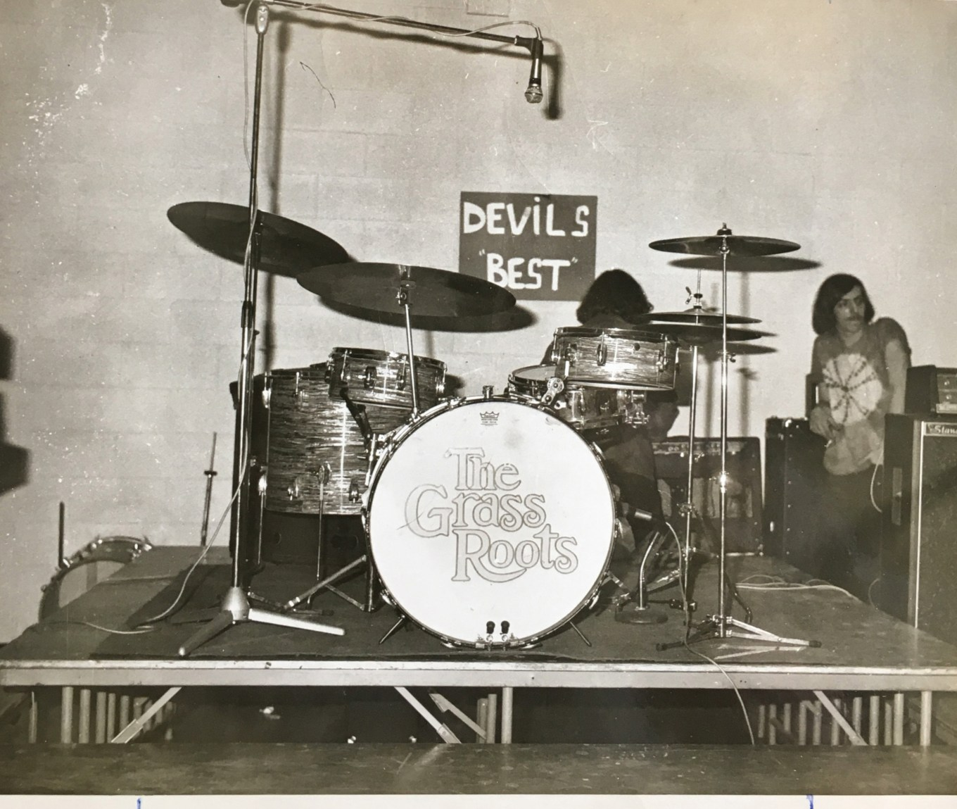 Grass Roots drum set, Burlington High School 1971