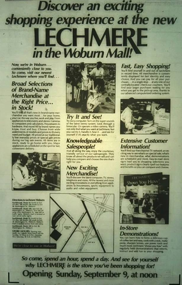 Lechmere Woburn Mall grand opening