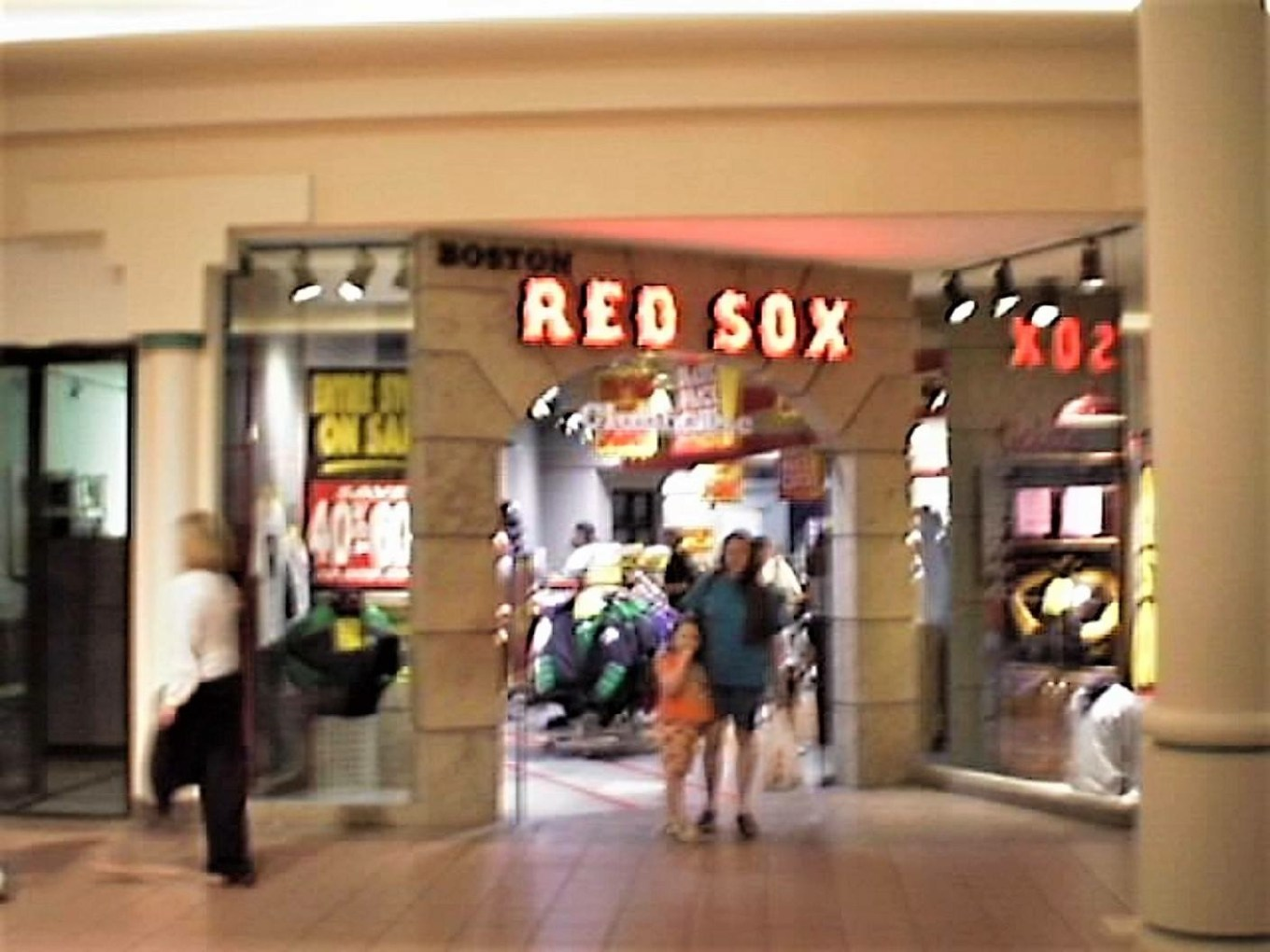 Red Sox store in the Burlington Mall
