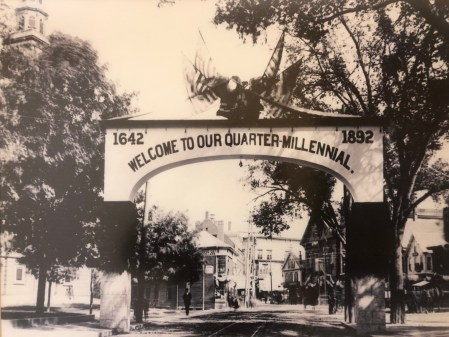 250th anniversary arch, Pleasant St. and Winn St., 1892