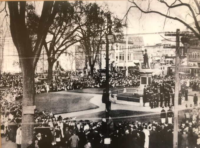 Homecoming of Woburn Company G, Oct. 21, 1919