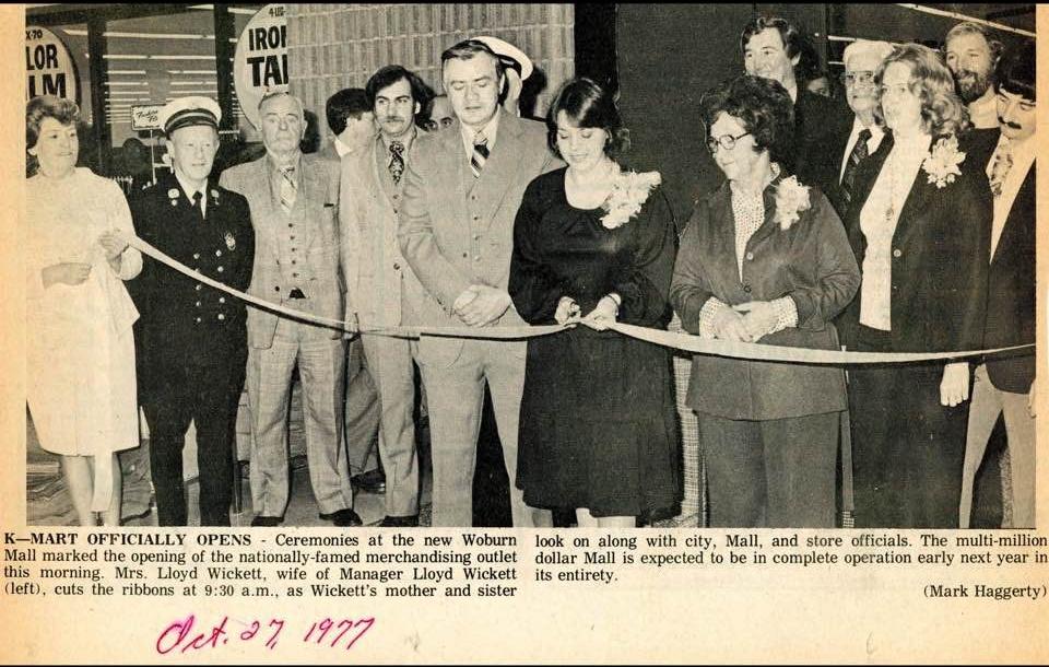 Woburn Mall grand opening 1977