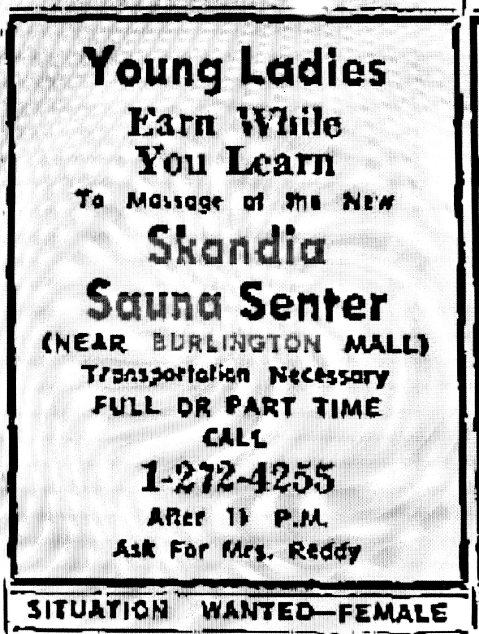 Skandia Sauna Senter ad, Burlington MA