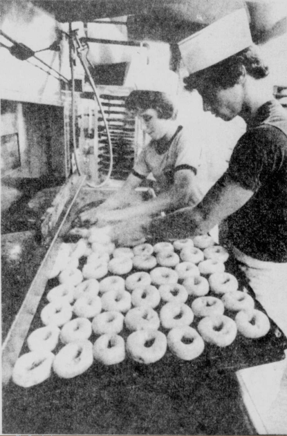 John Crowe (L) and Donald Morgan at Eagerman's Bakery