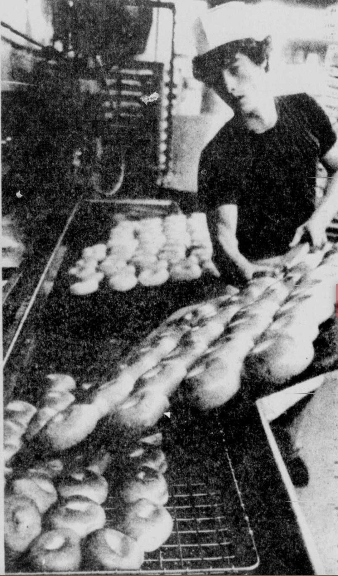 Donald Morgan at Eagerman's Bakery