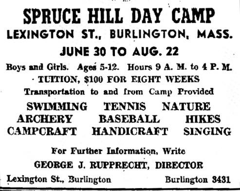 Spruce Hill Day Camp, Burlington, MA