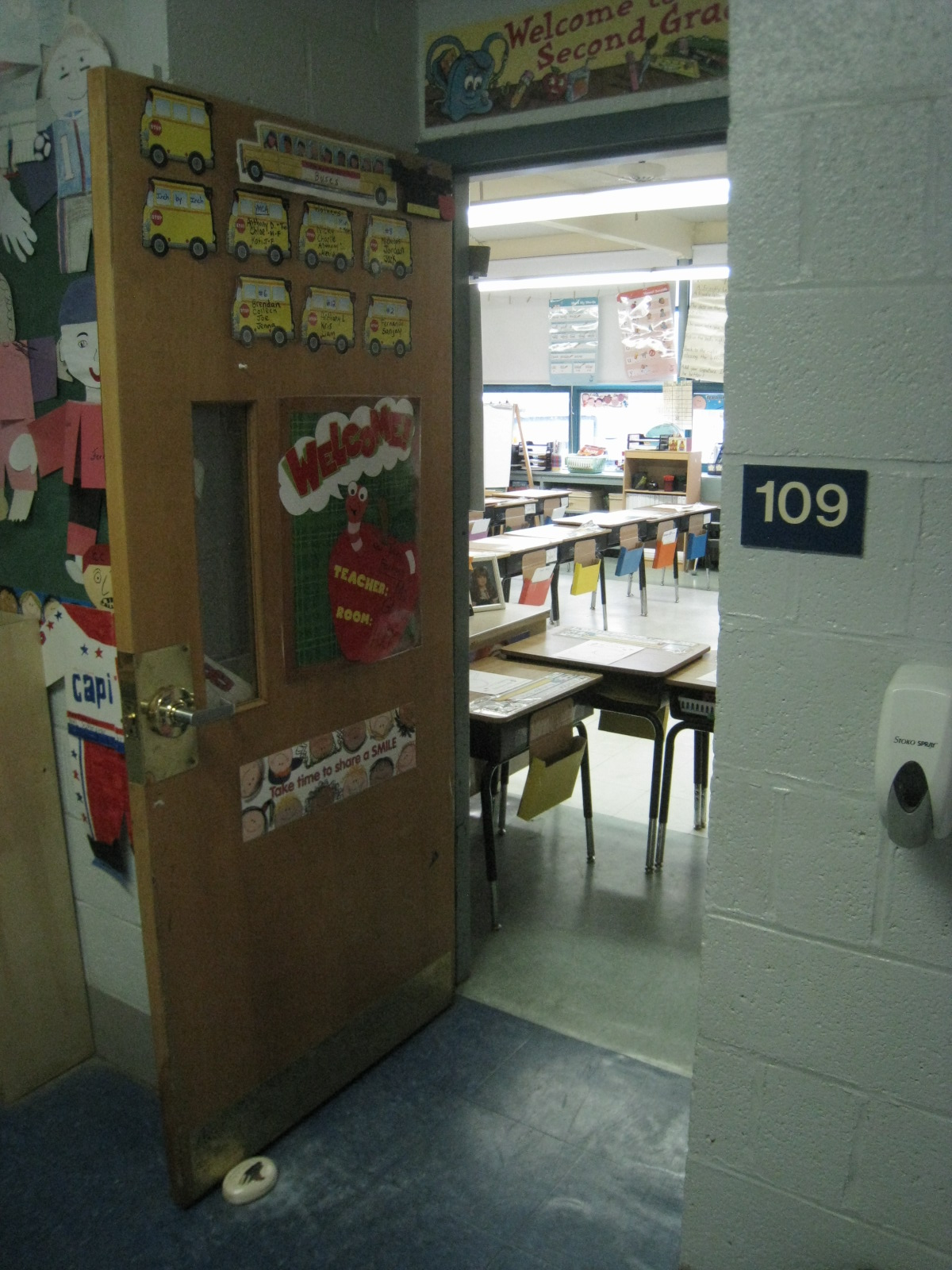Room 109 Memorial School, Burlington MA