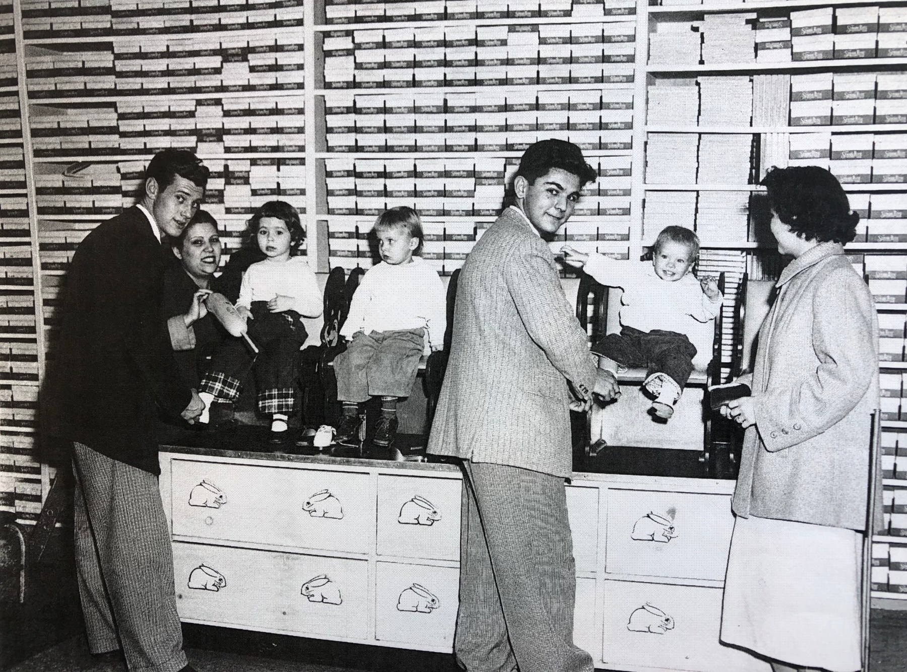 Bond Shoe Store, October 1953