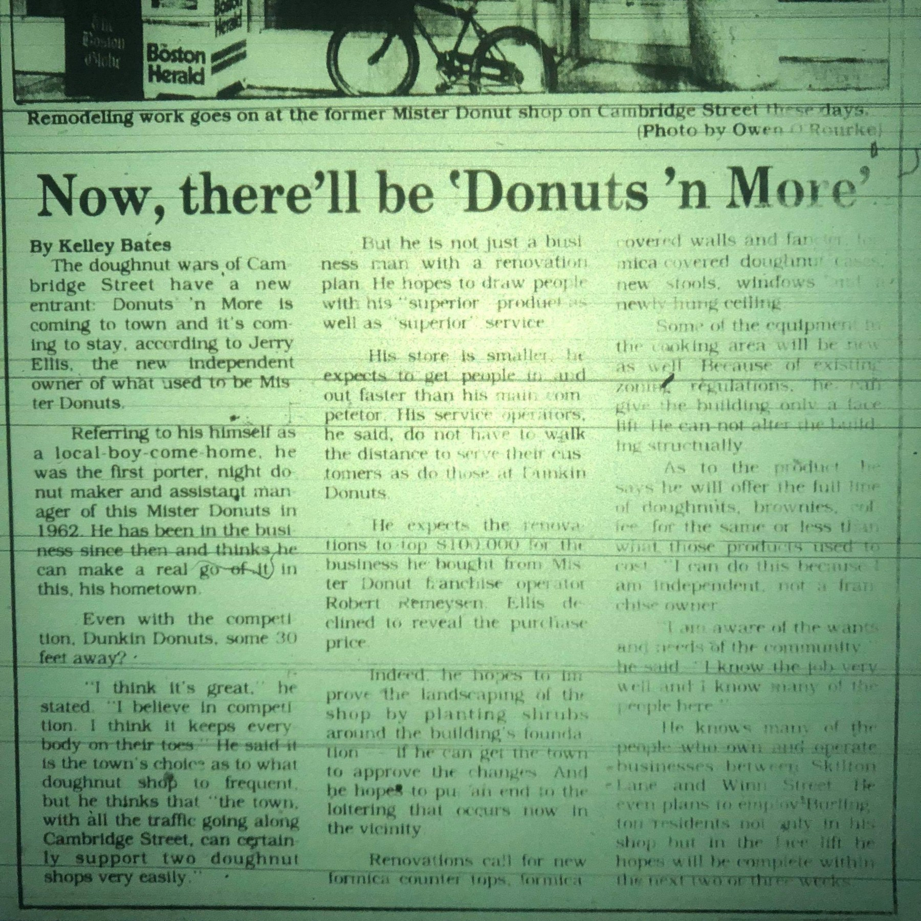 Mister Donut and Donuts 'n More article 1985