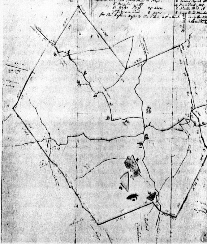 Burlington 1794 map, Burlington MA